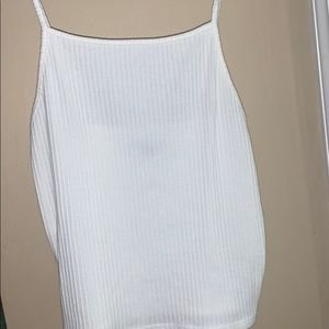 an all white tank top from American Eagle